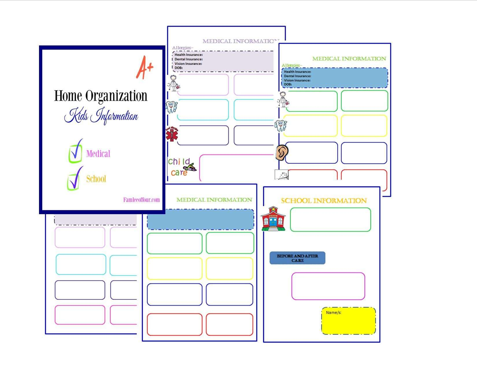 A must have free printable to organize your kids information.