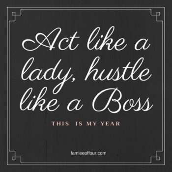 lady are always bosses...think like one.