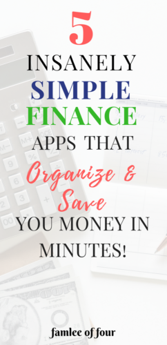 Finding time to budget, save and invest is difficult when you're running a business and have a family. These apps make investing, tracking and saving much easier. #savemoney #financeapps #organizemoney # organize finance