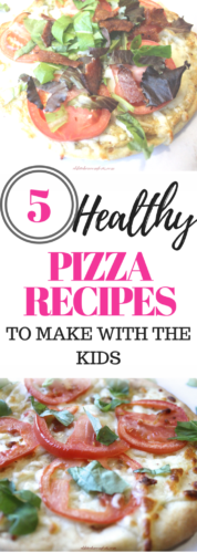 Do you have those long days after work where you wish you can whip up a quick meal? You want to make something that can involve the kids? Or that your older kids can make alone? The check out these 5 Easy and Fun Pizza Recipes. #healthymeal #pizza #pizzarecipes